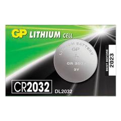 Батарейка GP Lithium, CR2032, литиевая, 1 шт., в блистере (отрывной блок)