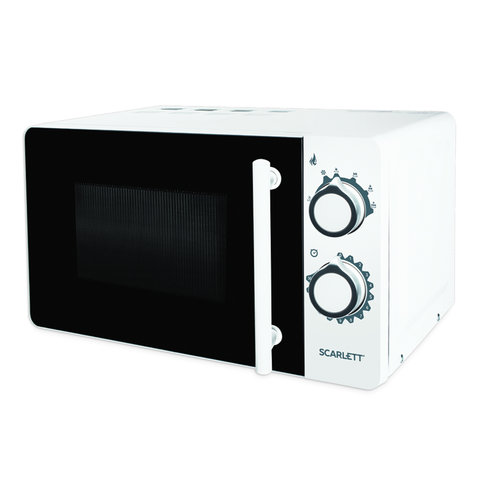 Микроволновая печь SCARLETT SC-MW9020S05M, объем 20 л, 700 Вт, механическое управление, таймер, гриль, белая