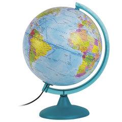 Глобус политический/физический диаметр 250 мм, с подсветкой