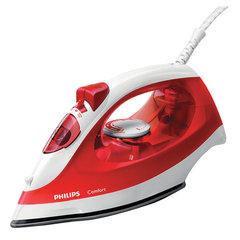 Утюг PHILIPS GC1433/40, 2000 Вт, терморегулятор, антипригарное покрытие, очистка от накипи, белый/красный