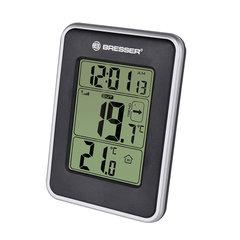 Метеостанция BRESSER Temeo io, термодатчик, часы, будильник, черный, 73255