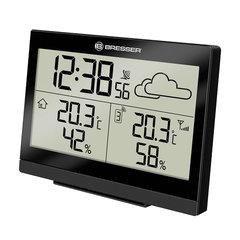 Метеостанция BRESSER TemeoTrend LG, термодатчик, гигрометр, часы, будильник, черный