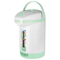 Термопот ECON ECO-250TP, 600 Вт, 2,5 л, ручной насос, пластик, белый/зеленый
