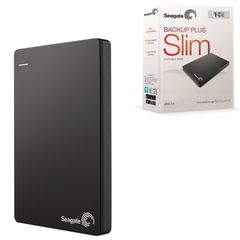 "Диск жесткий внешний HDD SEAGATE ""Backup Plus Slim"", 1 TB, 2,5"", USB 3.0, черный"