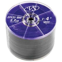Диски DVD-RW VS 4,7 Gb 4x, КОМПЛЕКТ 50 шт., Bulk, VSDVDRWB5001