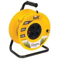 Удлинитель на катушке IEK (ИЕК) GARDEN, 4 розетки без заземления, 40 м, 2х1 мм, 2200 Вт