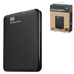 """Диск жесткий внешний HDD WESTERN DIGITAL """"Elements Portable"""", 1 TB, 2,5"""", USB 3.0, черный"""
