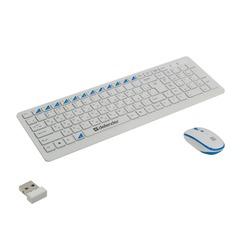 Набор беспроводной DEFENDER Skyline895, клавиатура, мышь 2 кнопки + 1 колесо + 1 dpi, белый/голубой