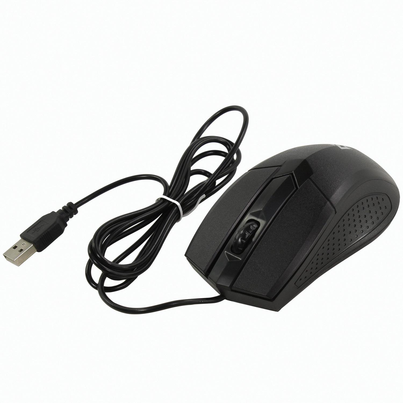 Мышь проводная DEFENDER Optimum MB-270, USB, 2 кнопки + 1 колесо-кнопка, оптическая, черная