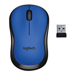 Мышь беспроводная LOGITECH M220, 2 кнопки + 1 колесо-кнопка, оптическая, сине-чёрная