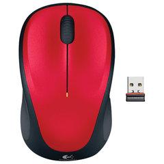 Мышь беспроводная LOGITECH M235, 2 кнопки+1 колесо-кнопка, оптическая, красно-чёрная