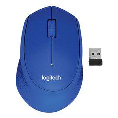 Мышь беспроводная LOGITECH M330, 2 кнопки+1 колесо-кнопка, оптическая, синяя