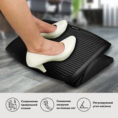 Подставка для ног BRAUBERG, офисная, 45х35 см, черная, 530106