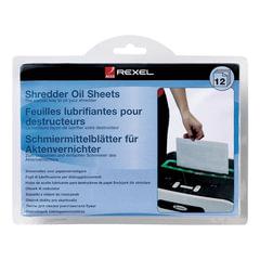 Салфетки масляные для уничтожителей, КОМПЛЕКТ 12 шт., REXEL (ACCO Brands, США)