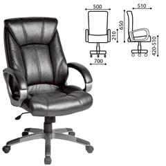 """Кресло офисное BRABIX """"Maestro EX-506"""", экокожа, черное"""