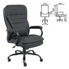 """Кресло офисное BRABIX """"Heavy Duty HD-001"""", усиленная конструкция, нагрузка до 200 кг, экокожа"""