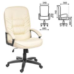 """Кресло офисное """"Лидер"""", СН 416, кожзам, бежевое"""