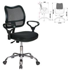 Кресло CH-799SL, с подлокотниками, хром, черное