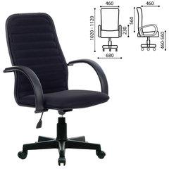 """Кресло МЕТТА """"CP-5PL"""", с подлокотниками, ткань-сетка, черное"""