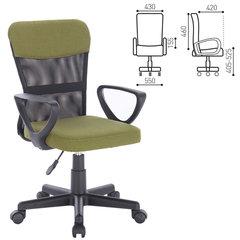 """Кресло компактное BRABIX """"Jet MG-315"""", с подлокотниками, зеленое"""