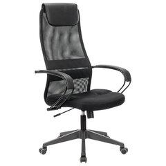 """Кресло офисное BRABIX PREMIUM """"Stalker EX-608 PL"""", ткань-сетка/кожзам, черное, 532090"""