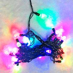 """Электрогирлянда светодиодная """"Сердца"""", 40 ламп, 5 м, многоцветная, 21352"""