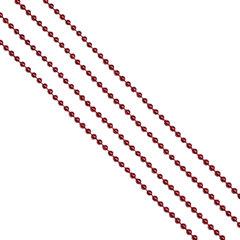 Бусы елочные, диаметр 4 мм, длина 2,7 м, красные