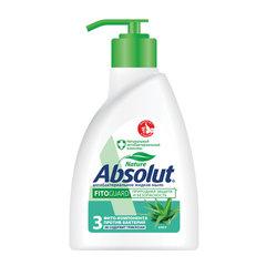 """Мыло жидкое антибактериальное 250 мл ABSOLUT (Абсолют) """"Алоэ"""", дозатор, не содержит триклозан, 5064"""