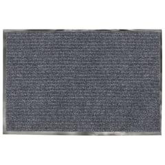 Коврик входной ворсовый влаго-грязезащитный, 90х60 см, толщина 7 мм, серый, VORTEX, 22087