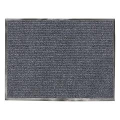 Коврик входной ворсовый влаго-грязезащитный, 90х120 см, толщина 7 мм, серый, VORTEX