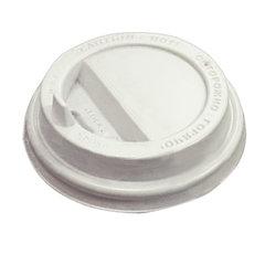 Одноразовая крышка для стакана (d-80), КОМПЛЕКТ 100 шт., откидной клапан-носик, ПС, ПРОТЭК