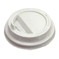 Одноразовая крышка для стакана (d-90), КОМПЛЕКТ 100 шт., откидной клапан-носик, ПС, ПРОТЭК