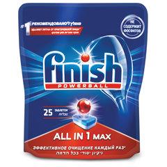 Таблетки для мытья посуды в посудомоечных машинах 25 шт. FINISH (Финиш) All in 1