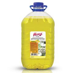 """Средство для мытья посуды 5 кг, НИКА """"Супер"""", лимон, концентрат, ПЭТ"""