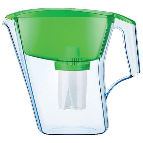"""Кувшин-фильтр для очистки воды АКВАФОР """"Лайн"""", 4 л, со сменной кассетой, зеленый"""
