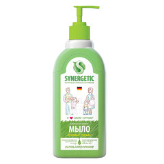 """Мыло жидкое 500 мл SYNERGETIC """"Луговые травы"""", гипоаллергенное, биоразлагаемое, дозатор"""