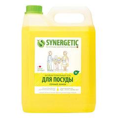 """Средство для мытья посуды 5 л SYNERGETIC """"Лимон"""", антибактериальное"""