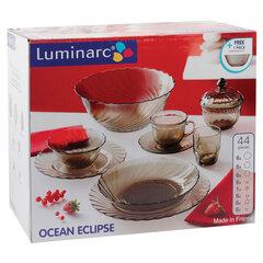 """Набор посуды столовый, 44 предмета, дымчатое стекло, """"Ocean Eclipse"""", LUMINARC, L5110"""