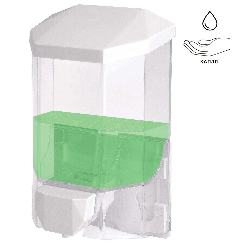 Диспенсер для жидкого мыла LAIMA PROFESSIONAL ORIGINAL, НАЛИВНОЙ, 0,5 л, прозрачный, 605772