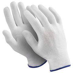 """Перчатки нейлоновые MANIPULA """"Микрон"""", КОМПЛЕКТ 10 пар, размер 7 (S), белые, TNY-24/MG-101"""