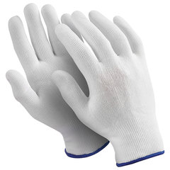 "Перчатки нейлоновые MANIPULA ""Микрон"", КОМПЛЕКТ 10 пар, размер 8 (M), белые, TNY-24/MG-101"