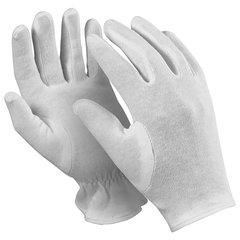 """Перчатки хлопчатобумажные MANIPULA """"Атом"""", КОМПЛЕКТ 12 пар, размер 8 (M), белые, ТТ-44"""