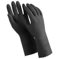 """Перчатки латексные MANIPULA """"КЩС-1"""", двухслойные, размер 10 (XL), черные, L-U-03/CG-942"""