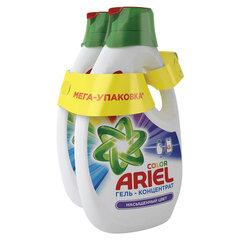 """Средство для стирки жидкое автомат 1,95 + 1,95 л ARIEL (Ариэль) """"Color"""", гель, концентрат"""
