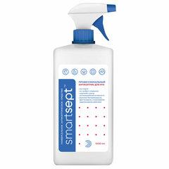 Антисептик для рук и поверхностей спиртосодержащий (70%) с распылителем 1л SMARTSEPT, дезинфицирующий, жидкость