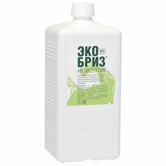 Антисептик для рук и поверхностей спиртосодержащий (60%) 1л ЭКОБРИЗ, дезинфицирующий, жидкость