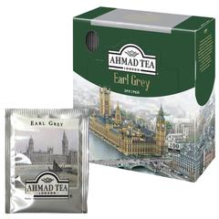 """Чай AHMAD (Ахмад) """"Earl Grey"""", черный с ароматом бергамота, 100 пакетиков с ярлычками по 2 г"""