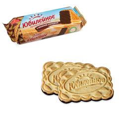 Печенье ЮБИЛЕЙНОЕ, с шоколадной глазурью, 116 г, 3860