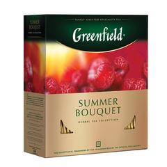 """Чай GREENFIELD (Гринфилд) """"Summer Bouquet"""" (""""Летний букет""""), травяной, 100 пакетиков в конвертах по 2 г"""
