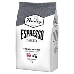 """Кофе в зернах PAULIG (Паулиг) """"Espresso BARISTA"""", натуральный, 1000 г, вакуумная упаковка, 16623"""